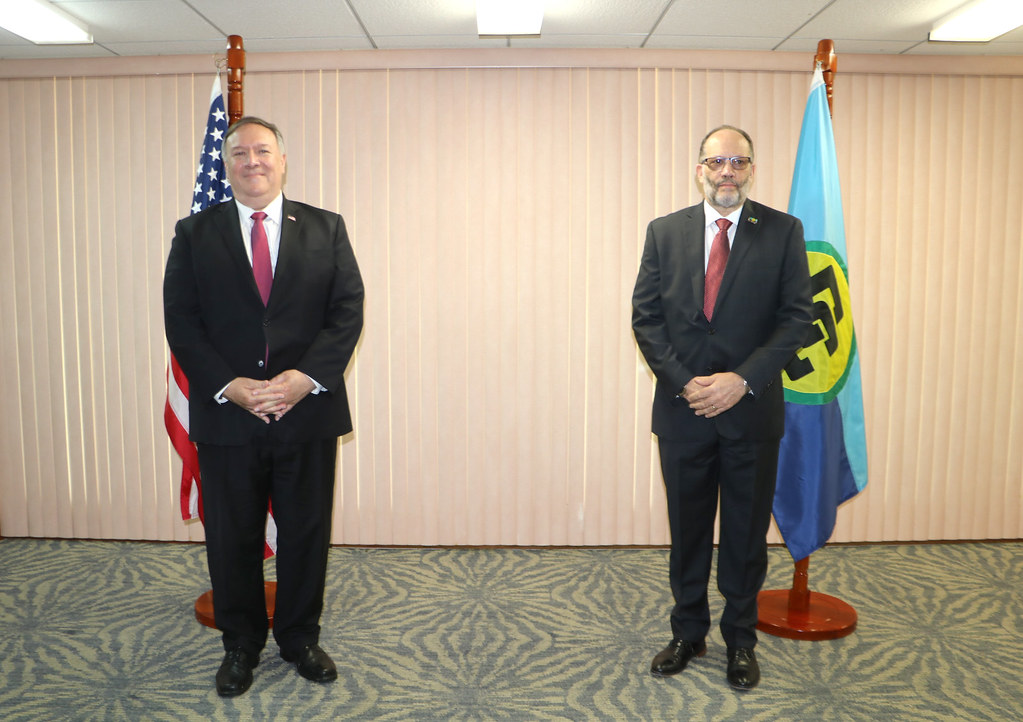 CARICOM SG meets US Sec of State Mike Pompeo