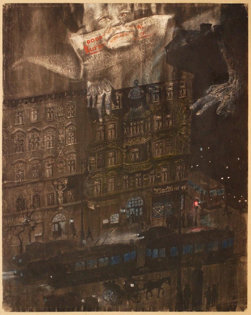 """Bronisław Wojciech Linke - """"Zaciemnienie. Będzie wojna?"""", 1940,"""