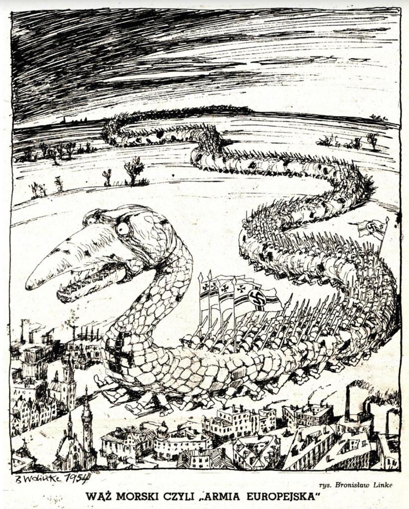 "Bronisław Wojciech Linke - Sea Serpent or ""European Army"", 1954"