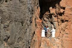 Ventana en el Tunel vista al río Mijares