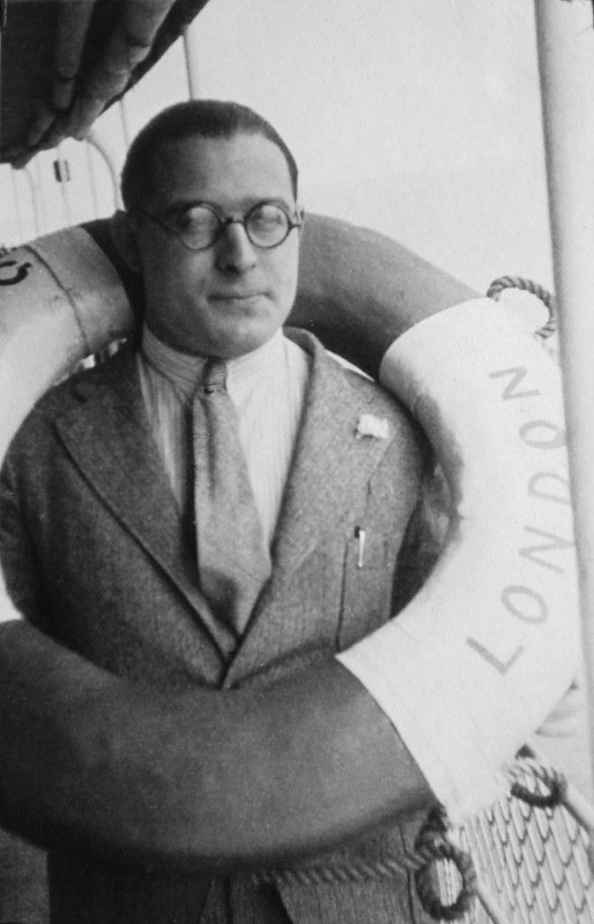 David van Gelderen aboard s.s. Woosung, 1933