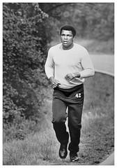 Ali does road work in Greenbelt Park: 1976