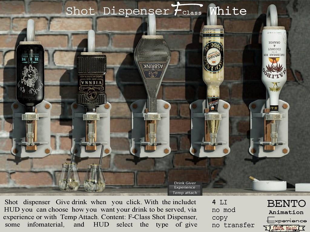 F-Class Shot Dispenser white