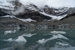 Small icebergs in the Alps: fresh snow on the mountains (2/2)