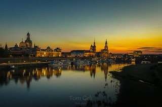 Golden night in Dresden