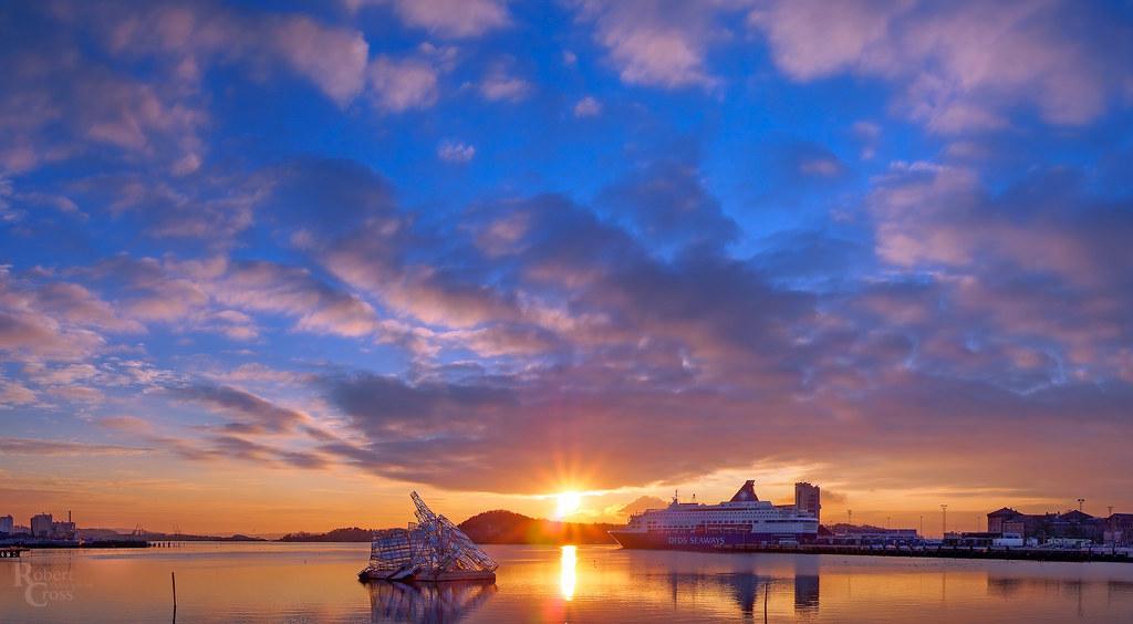 Oslofjord Winter Sunset Skies