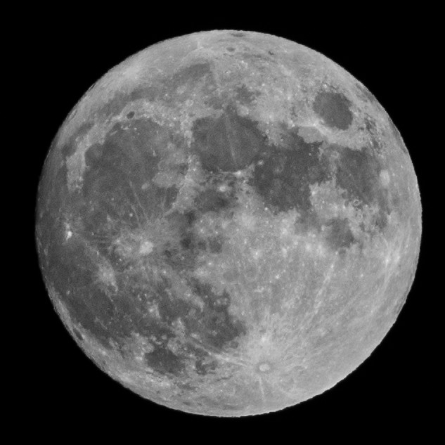 Round Moon in a square box