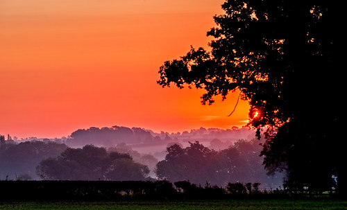 wistow leicestershire landscape landschaft valley mist misty sun sunrise red sky trees field hedge farmland countryside rural fujifilm fuji xt2