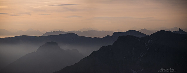 After midnight - cloudy night at Karwendel