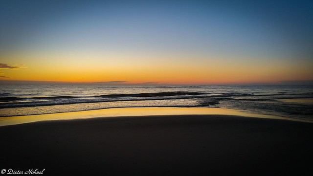 Pastellfarbener Sonnenuntergang