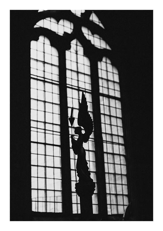 Angel in silhouette