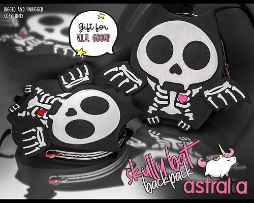 Astralia - Skully Bat Backpack