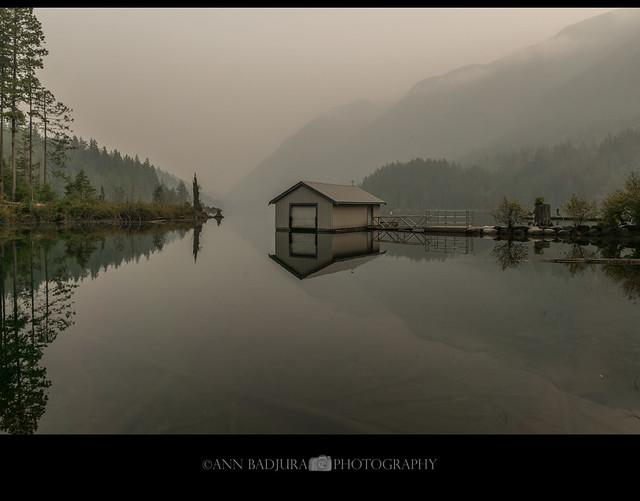 Smoky Buntzen Lake near Vancouver, BC, Canada