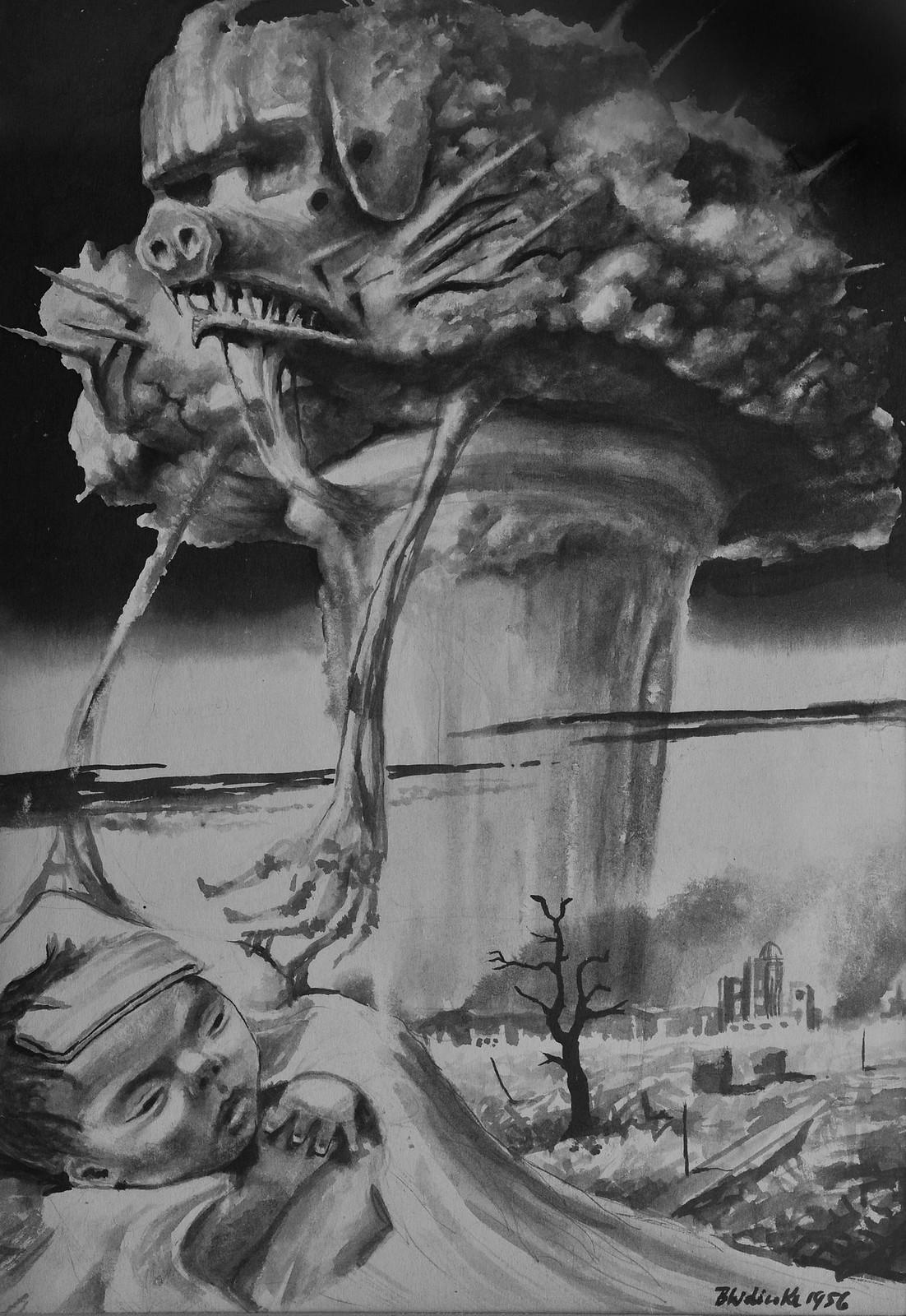 Bronisław Wojciech Linke - The Child of Hiroshima, 1956