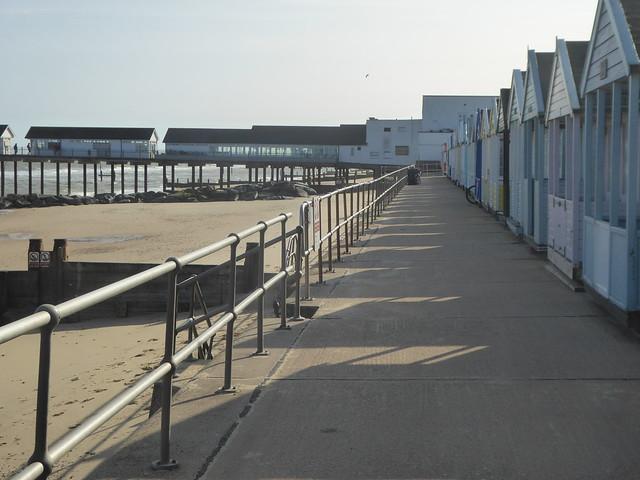 Pier, promenade and beach huts