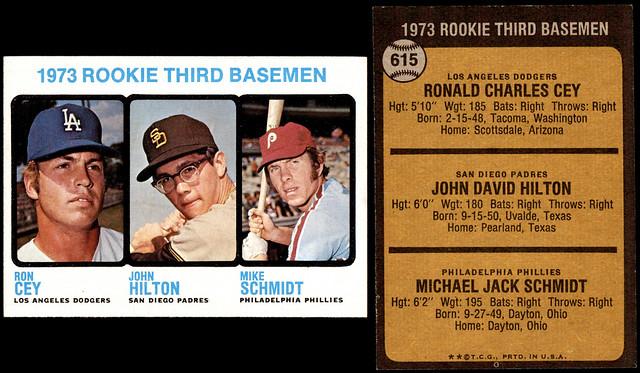 bt 1973 615 rookie 3b cey-hilton-schmidt