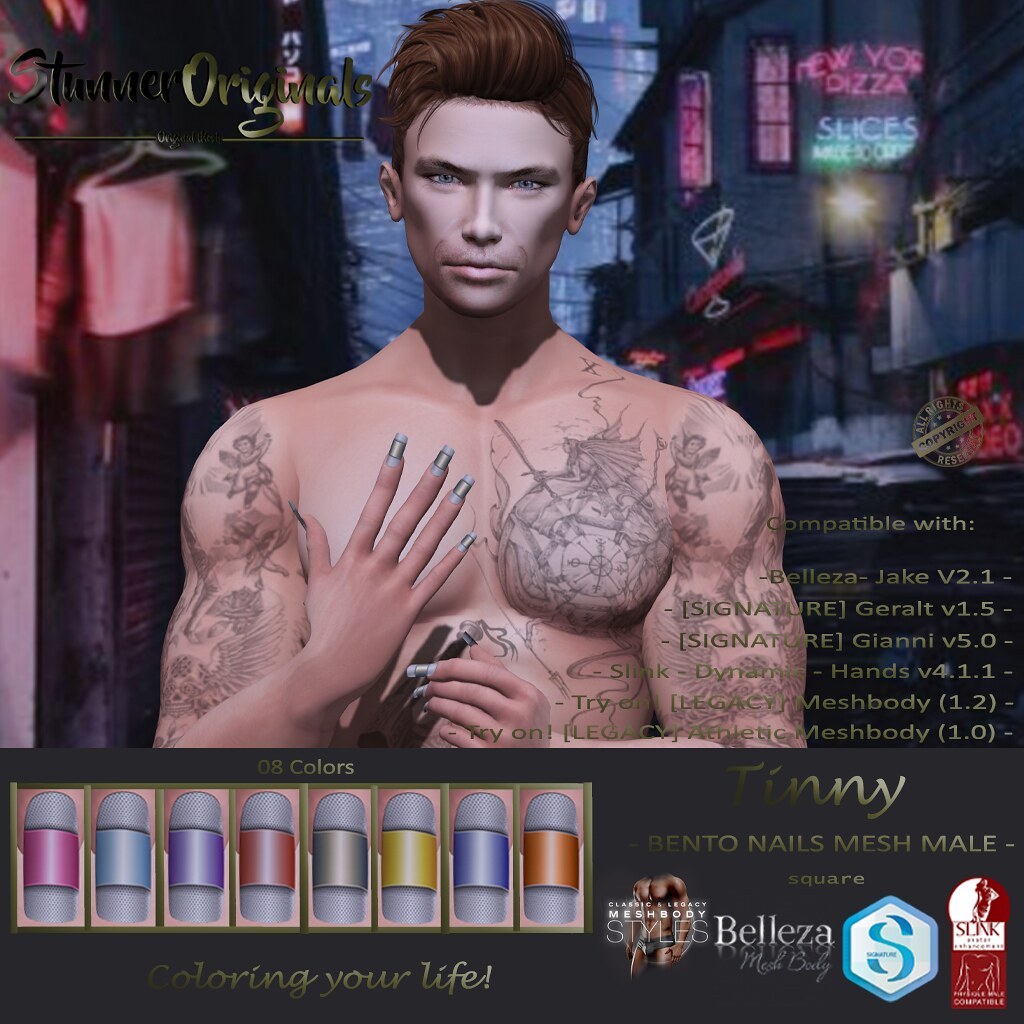 .:: SO ::. Bento Nails Mesh Male Square Tinny