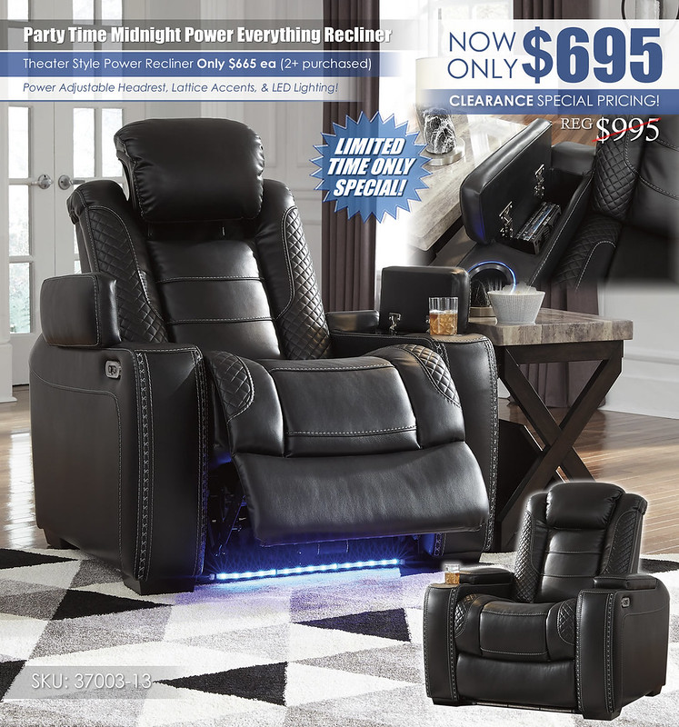 Party Time Midnight Recliner_37003-13_New