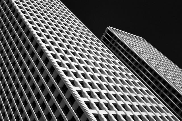 One & Two Allen Center, Houston (infrared)