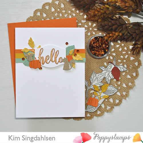 An Autumn Hello with Poppystamps
