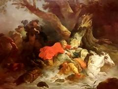 Détail d'un des 4 grands tableaux de F.-J. Casanova / Musée des Beaux-Arts de Rennes