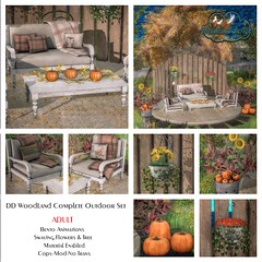 DD Woodland Autumn Complete Outdoor Scene Adult AD