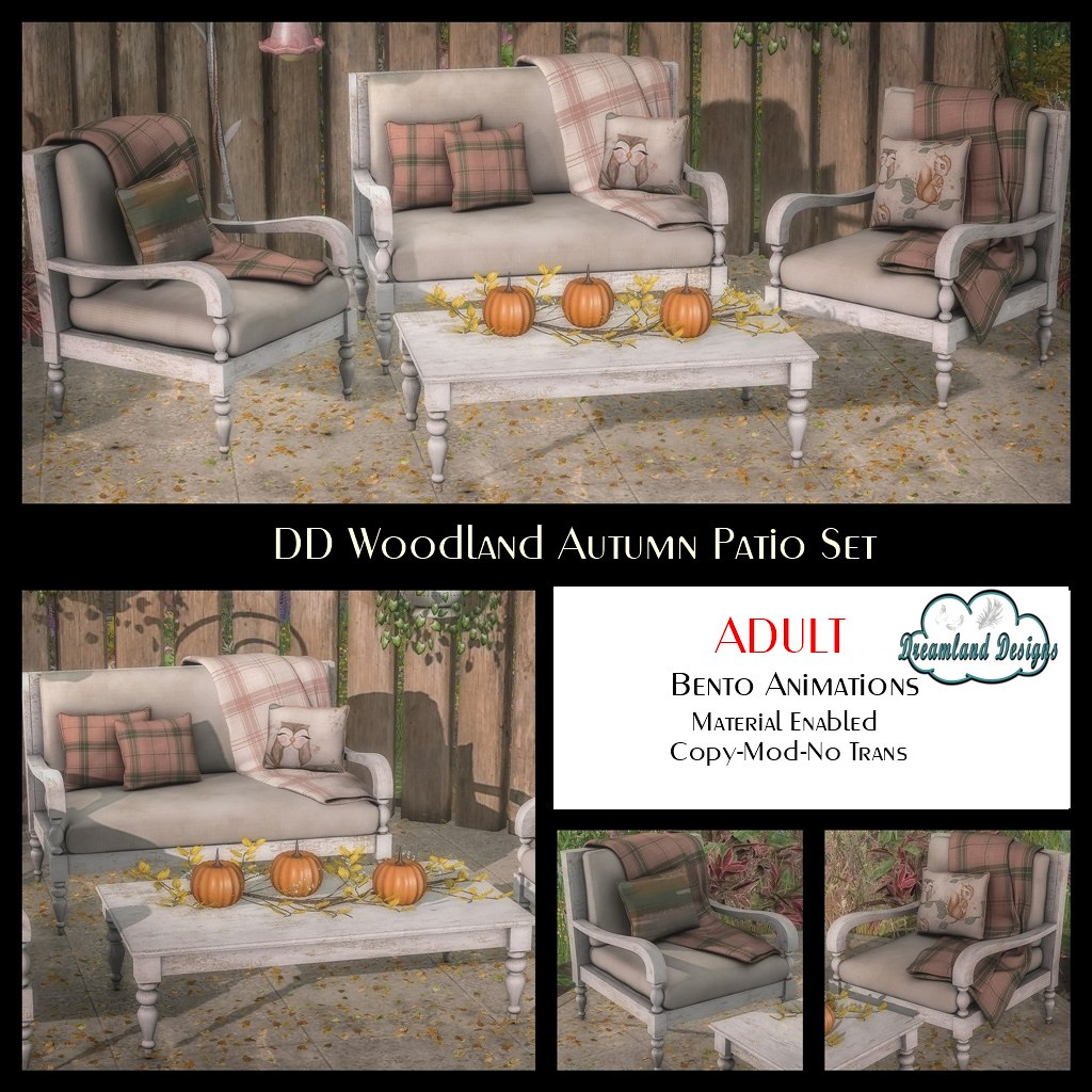 DD Woodland Autumn Patio Set Adult Ad