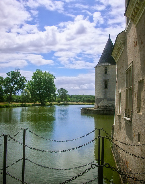 Moat and tower