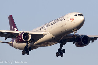 G-VGEM Airbus A330-300 Virgin Atlantic Heathrow Airport EGLL 25.02-19