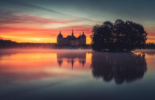 Sonnenaufgang in Moritzburg