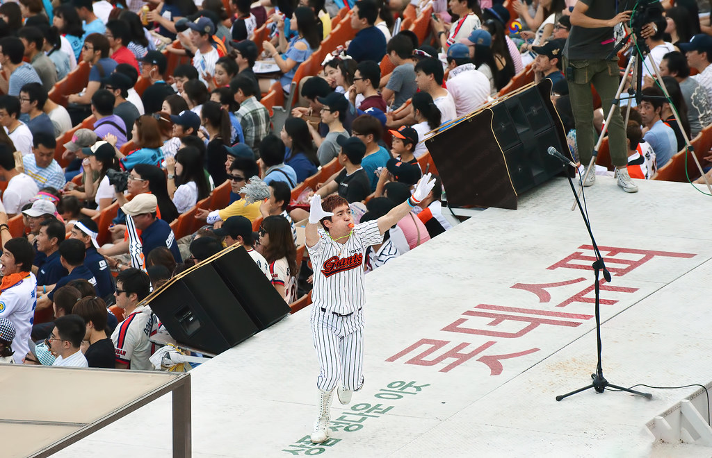 Lotte Giants male cheerleader (Busan, South Korea)