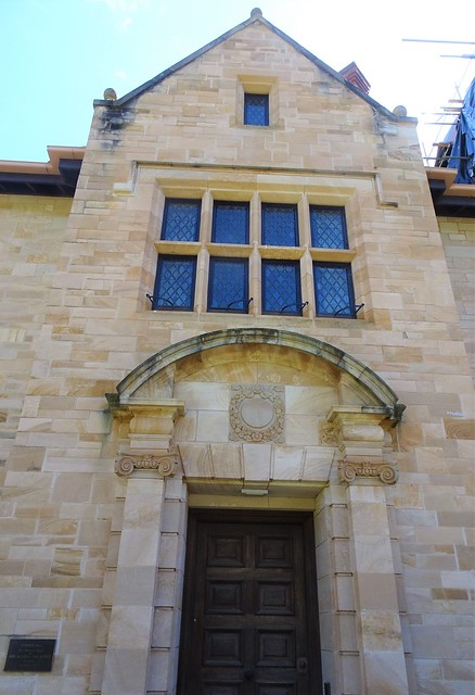 Adelaide. Springfield. Entrance to Carrick Hill mansion built in 1939  in the style of an ELizabethan mansion. Built for the Haywood family. Bequeathed to the state of South Australia in 1983.