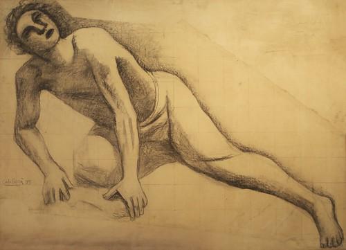 Figura piegata al suolo sul ginocchio destro (1935)