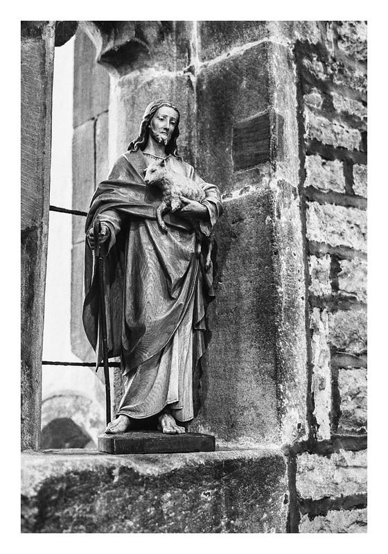 Jesus in a window