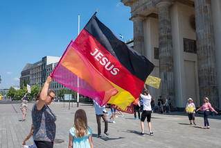 The Christian state. Brandenburg Gate, June 2020.