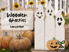 .sprout. wooden ghosties.