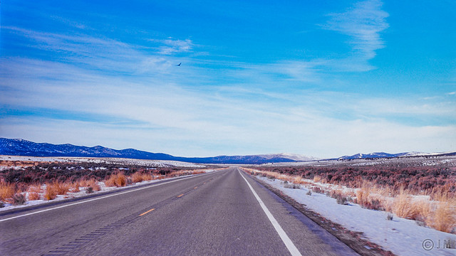 America's loneliest highway (highway 50 after Ely to Carson City)