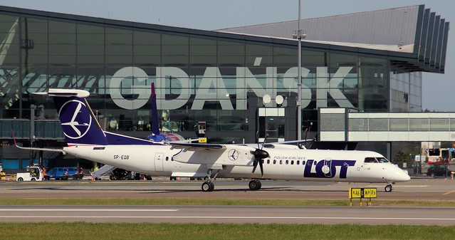 LOT Polish Airlines, SP-EQB, MSN 4407, De Havilland Canada DHC 8 402Q, 14.09.2020, GDN-EPGD, Gdańsk