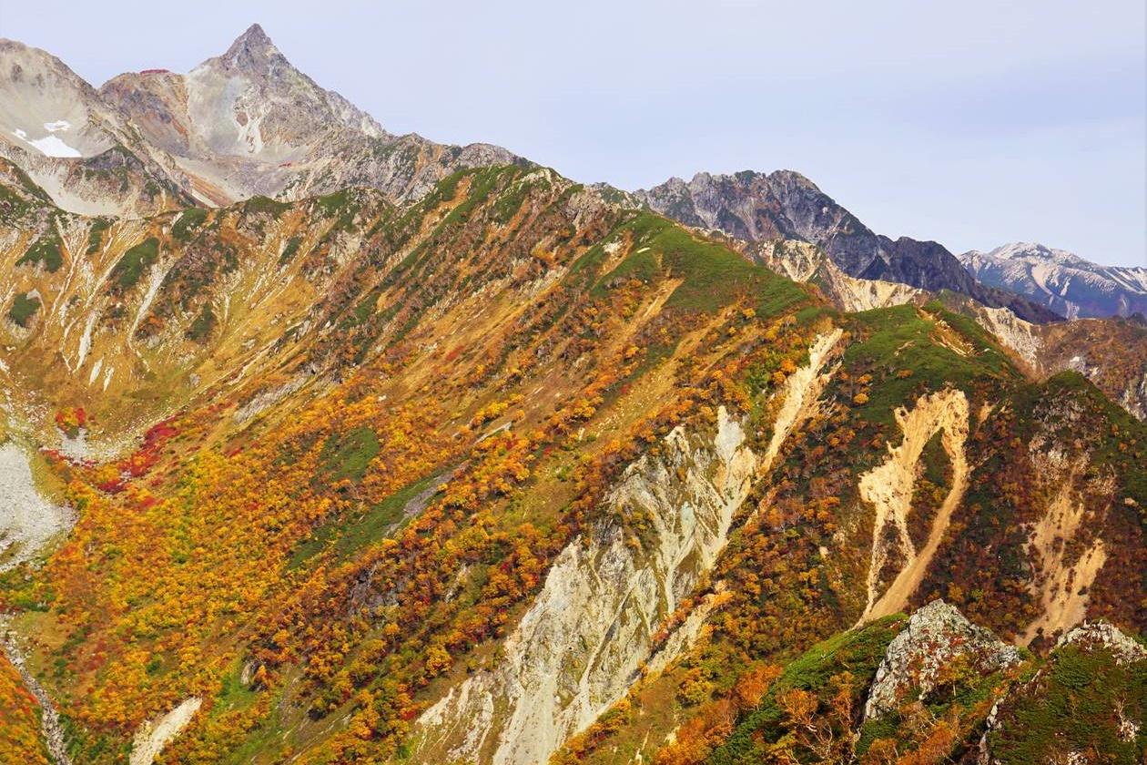 【北アルプス】紅葉と槍ヶ岳