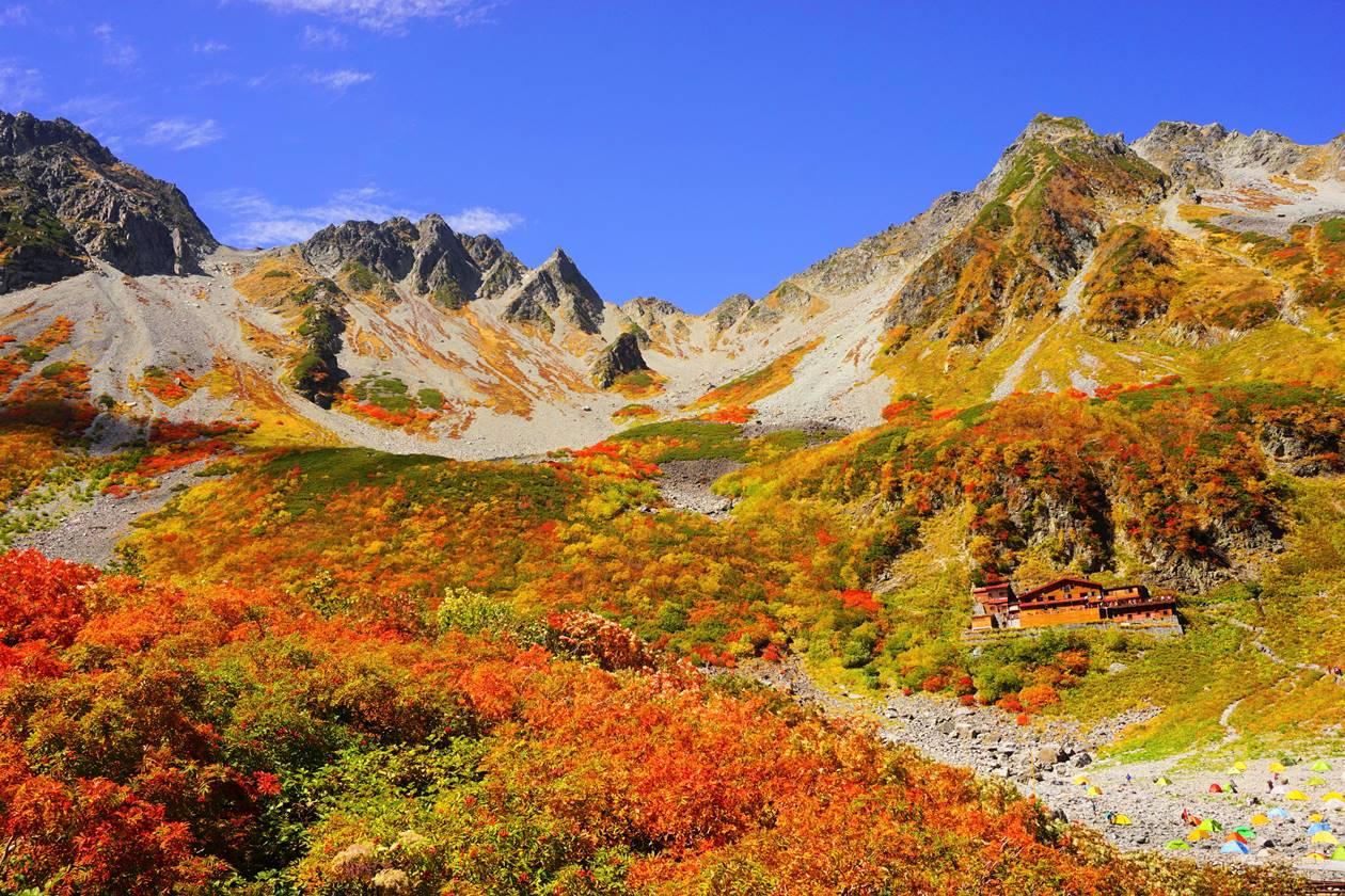 【北アルプス】秋の涸沢 紅葉風景