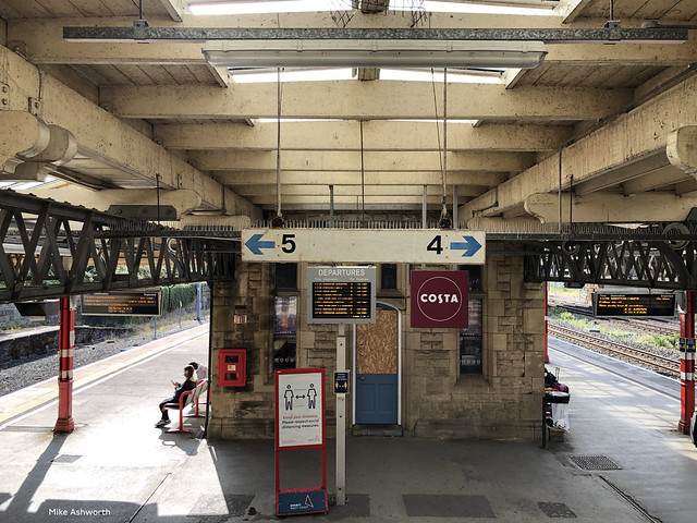 Lancaster station - some signs with style