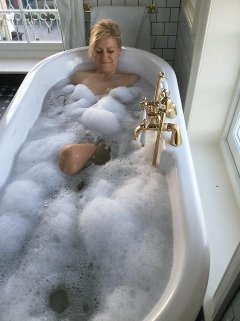 She's loving those bubbles