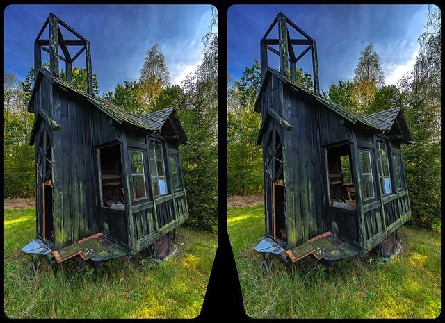 Chapel on wheels 3-D / CrossView / Stereoscopy