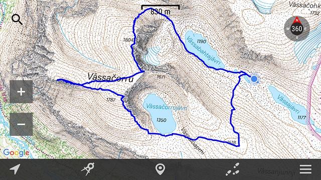 Vassatjårro all peaks except the eastern.