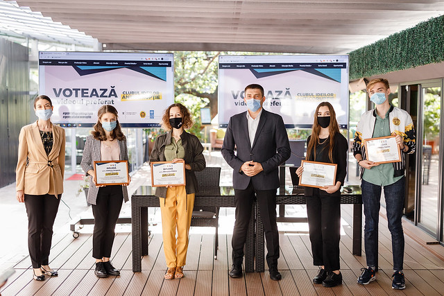 Sixteen young people presented their own solutions for reducing corruption within a video materials' contest