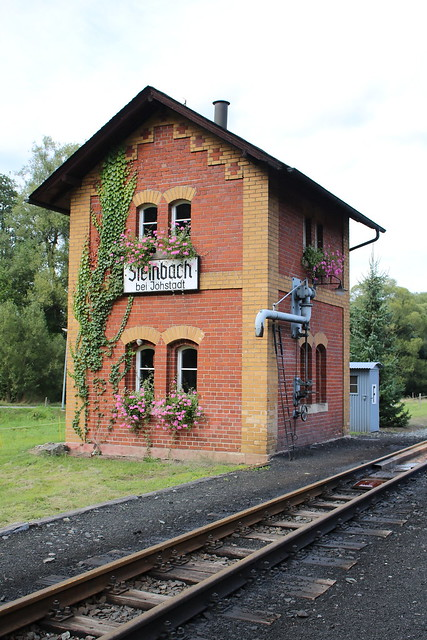 Preßnitztalbahn: Wasserhaus im Bahnhof Steinbach bei Jöhstadt