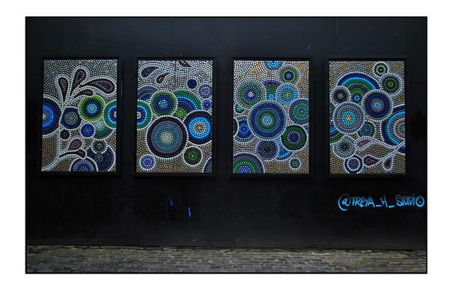 LONDON BOTTLETOP STREET ART by FREYA H.