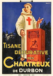 DANILO. Tisane Dépurative des Chartreux de Durbon, c. 1930.