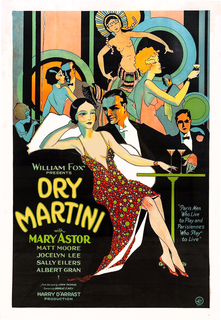 Dry Martini, with Mary Astor, 1928.