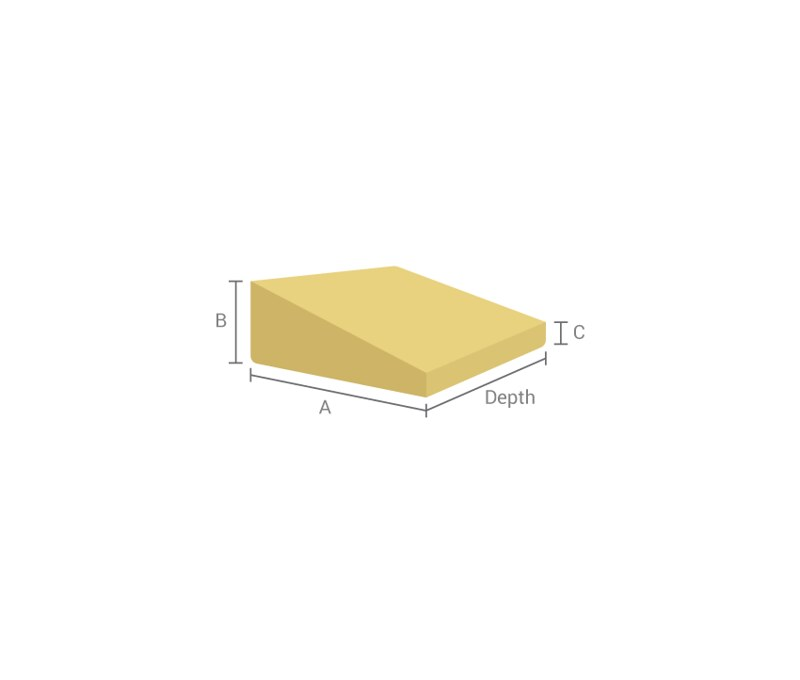 Wedge Shaped Foam Mattresses in Edmonton - Make My Foam